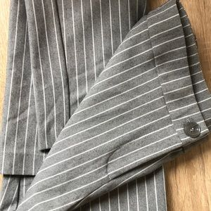 Motion Stretchy Grey Pinstripe Trousers